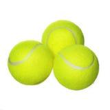 Balles de tennis d'isolement sur le fond blanc. Plan rapproché Images libres de droits