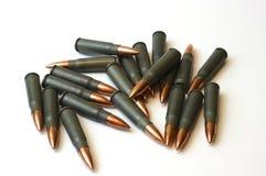 7 balles 62x39 enfermées par acier Photo libre de droits
