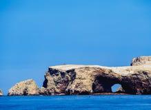 Ballestas Islands in Peru. Ballestas Islands near Paracas, Ica Region, Peru Stock Photo