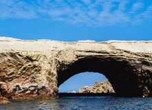 Ballestas Islands in Peru. Ballestas Islands near Paracas, Ica Region, Peru Stock Image