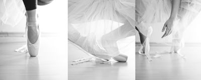 Ballet. Dancer in white tutu royalty free stock images