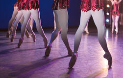Ballet. Close up of dancers on stage Royalty Free Stock Photos