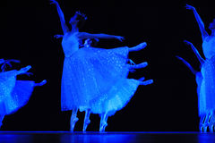 Ballet. Drama: GO TO HOME IN SNOW AT NIGHT . It Is a love story. Guangzhou , China Stock Image