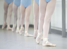 Ballet. Close up of ballerinas in class Royalty Free Stock Image