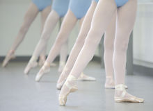 Ballet. Close up of ballerinas legs Royalty Free Stock Images