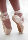 Ballet. Ballerina toe shoes Stock Photo