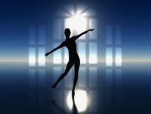 Ballet. Dancer as symbol for harmony, elegance and beauty Royalty Free Stock Images