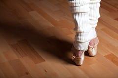 Ballet. Feet of a ballet dancer Royalty Free Stock Photos