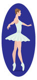 Ballet. The figure shows a ballerina Royalty Free Stock Image
