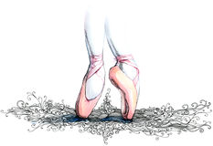 Ballet illustration stock