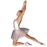 Ballet 4. 3d render of Ballet 4 Stock Images