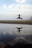Ballet. A woman jumping through the air Stock Images