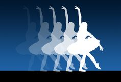 Ballet, the abstraction of dance royalty free stock photo