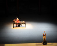 Ballet affaire-moderne d'amour : Trollius chinensis Image stock