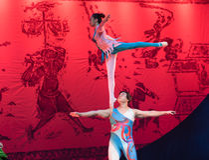 Ballet on the arm-Acrobatic showBaixi Dream Night Stock Photo