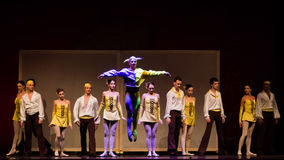 Ballet artists. The artists from National Opera & Ballet Theatre Oleg Danovski during the show for National Day of Spain 2013 organized in Bucharest Stock Image