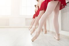 Ballet background, young ballerinas training royalty free stock image