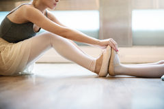 Ballet Ballerina Balance Posing Stretching Grace Concept Stock Images