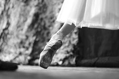 Ballet. The ballerina performs the movement for rehearsals in the theater Stock Images