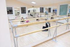 Ballet barre stock photo
