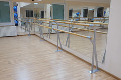 Ballet barre Stock Images