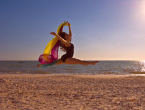 Ballet on a Beach-II Royalty Free Stock Image