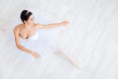 Ballet. Beautiful young ballerina in pointe stock photos