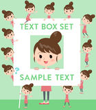 Ballet Bun hair Apron mom text box Royalty Free Stock Photo