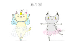 Ballet cats royalty free illustration