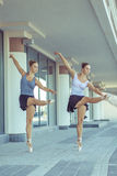 Ballet in the city. Stock Images