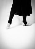 Ballet clásico de los pies del baile Fotos de archivo libres de regalías