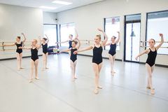 Ballet Class for children. Young ballet dancers in the studio Royalty Free Stock Photo