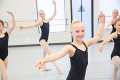 Ballet Class for children. Young ballet dancers in the studio Royalty Free Stock Photography
