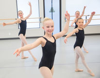 Ballet Class for children. Young ballet dancers in the studio Royalty Free Stock Images