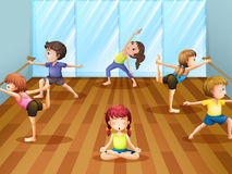 Ballet class Royalty Free Stock Photo