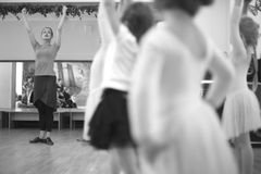 Ballet daily class for small girls Royalty Free Stock Image