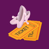 Ballet classic dance show ticket booking flat isometric vector Stock Image