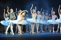 BALLET COMPANY. Ballet dancers performong the Swan Lake Ballet, Moscow Royal Ballet Stock Photo