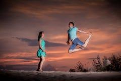 Ballet, couple, nature, dansant images libres de droits