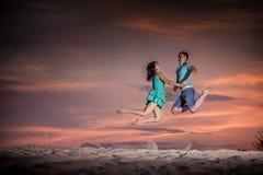Ballet, couple, nature, jump Stock Photo