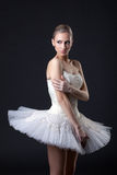 ballet Dançarino bonito que levanta no tutu foto de stock
