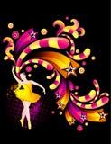 Ballet dance. Illustration composition over a black background Royalty Free Stock Images