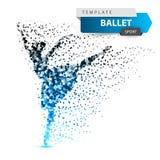 Ballet, dance, girl - dot illustration. stock illustration
