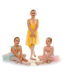 Ballet Dance Girls Trio Royalty Free Stock Photos