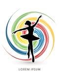 Ballet dance graphic vector. Stock Image