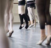 Ballet dance practice Royalty Free Stock Photos