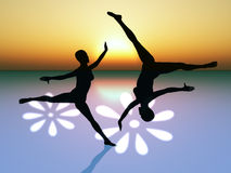 Ballet dancer. As symbol for harmony, elegance and beauty Stock Photography