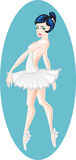 Ballet dancer. A beautiful graceful ballet dancer stock illustration