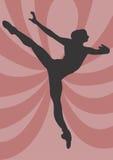 Ballet dancer. A illustration of a ballet dancer stock illustration