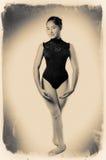 Ballet Dancer. Ballerina, Vintage ballet dancer. Image of a dancer using ancient technique stock photos